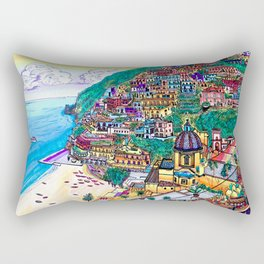 Positano, Italy Rectangular Pillow