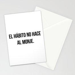 El hábito no hace al monje. Stationery Cards