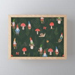 Woodland Gnomes Framed Mini Art Print