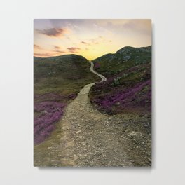 Sunset at Skye Island Metal Print