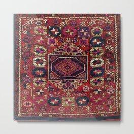 Karakecili Balikesir Antique Tribal Turkish Rug Print Metal Print