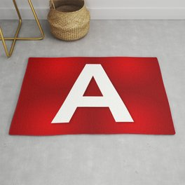 Red letter A Rug