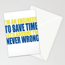 I'm An Engineer Stationery Cards