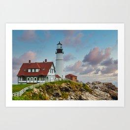 Portland Head Lighthouse at Dusk Art Print