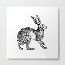 Rabbit Rabbit Woodland Print Metal Print
