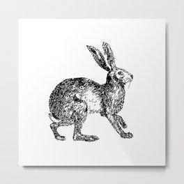 Rabbit Rabbit Woodland Print Metal Print