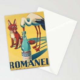 Advertisement romanel la perle des eaux de table Stationery Cards