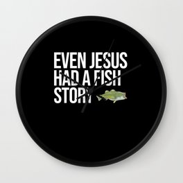 Funny Largemouth Bass Fishing Freshwater Fish Gift Wall Clock
