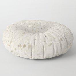 White Speckled Stone Floor Pillow
