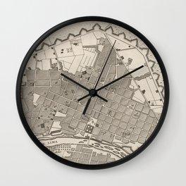 Vintage Map of Lima Peru (1764) Wall Clock