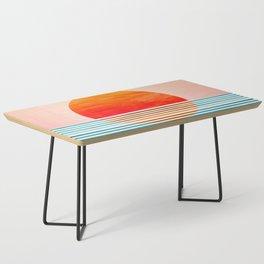 Minimalist Sunset III / Abstract Landscape Coffee Table
