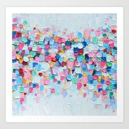 Rainbow Confetti Art Print