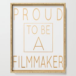 Proud To Be A Filmmaker - Funny Directing product Serving Tray