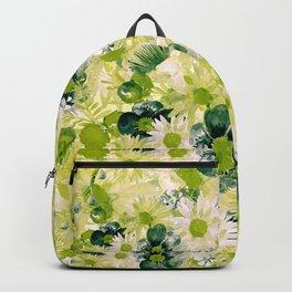 Green Floral Garden Backpack