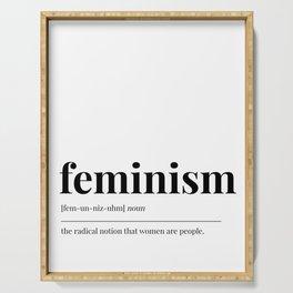 Feminism Serving Tray