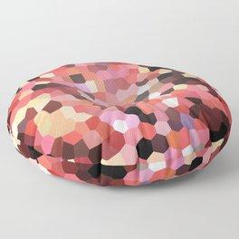 Red Black Mosaik pattern Floor Pillow