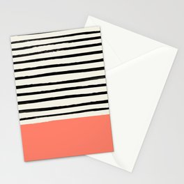 Coral x Stripes Stationery Cards