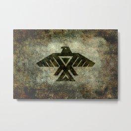 Thunderbird flag - Vintage grungy Metal Print