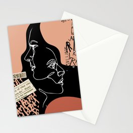 Urban Portrait Collage Stationery Cards