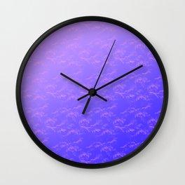 Leaf Pattern - Purple blue Wall Clock