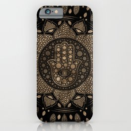 Hamsa Hand -Hand of Fatima in Lotus mandala iPhone Case