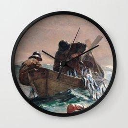 Winslow Homer1 - The Herring Net - Digital Remastered Edition Wall Clock