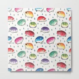 Round Rain Frogs Metal Print