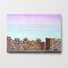 New York Purple Sky Metal Print