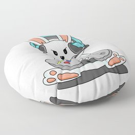 Gaming Bunny Gamer Rabit Headset Gamepad Gift Floor Pillow