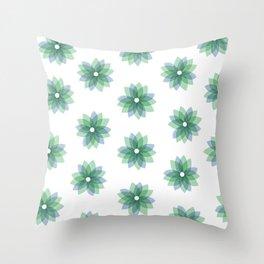 Geo Spring Flowers 01 Throw Pillow