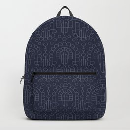 Garlands & Confetti blue outlined Backpack