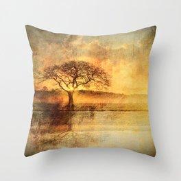 Sunset On The Savannah Throw Pillow