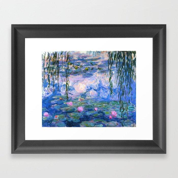Water Lilies Monet Gerahmter Kunstdruck