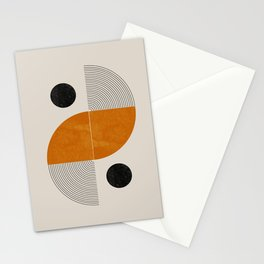 Abstract Geometric Shapes Stationery Cards