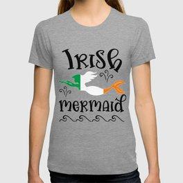 Irish Mermaid Quote Ireland Flag Pride Love Country Heritage T-shirt