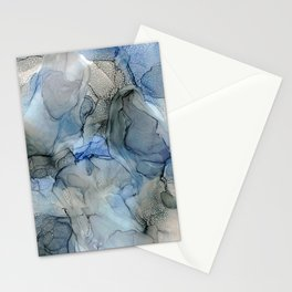 Rippling Water: Original Abstract Alcohol Ink Painting Stationery Cards