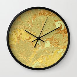 Sunflowers Golden Garden Wall Clock