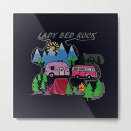 Lady Bed Rock Metal Print