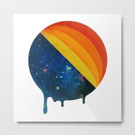 049 Cosmic retro ice cream roll melting Metal Print