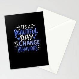 Change Behaviors aba bcba funny BEHAVIOR ANALYST Stationery Cards