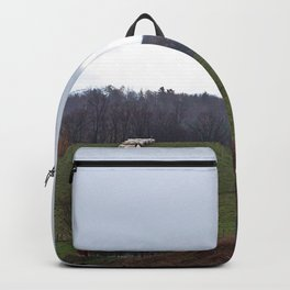 Barn and the Cattle on the hill Backpack