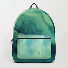 Watercolour Print, Navy Blue and Green Prints, Abstract Watercolor Backpack