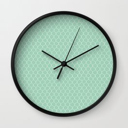 Chicken Wire Mint Wall Clock