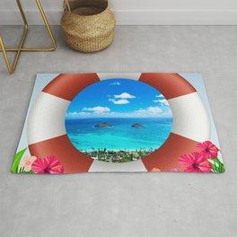 Lanikai Beach - Hawaii Getaway Rug