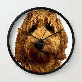 Red Cockapoo / Doodle Dog  Wall Clock