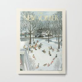 "Cover of "" The new Yorker"" magazine. Jan. 31  1948. Metal Print"