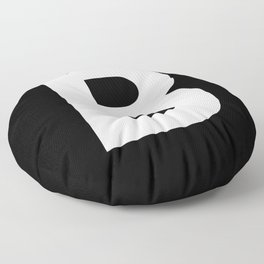 Letter B (White & Black) Floor Pillow