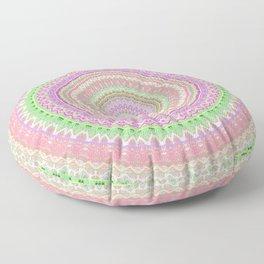Pastel Pink Green Mandala Floor Pillow