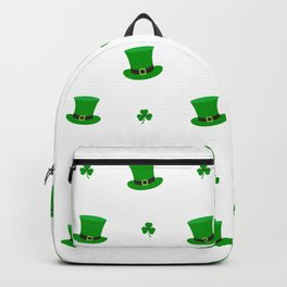 st patrick's day hat pattern Backpack