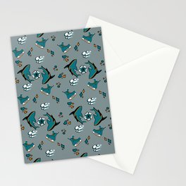 Sharks n' Skates Stationery Cards